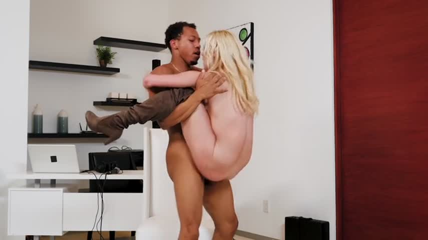 The blond singer is the home porn casting with a black guy