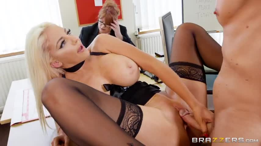 Tattooed Jock Fucks in the office of the Director and her faithful Secretary