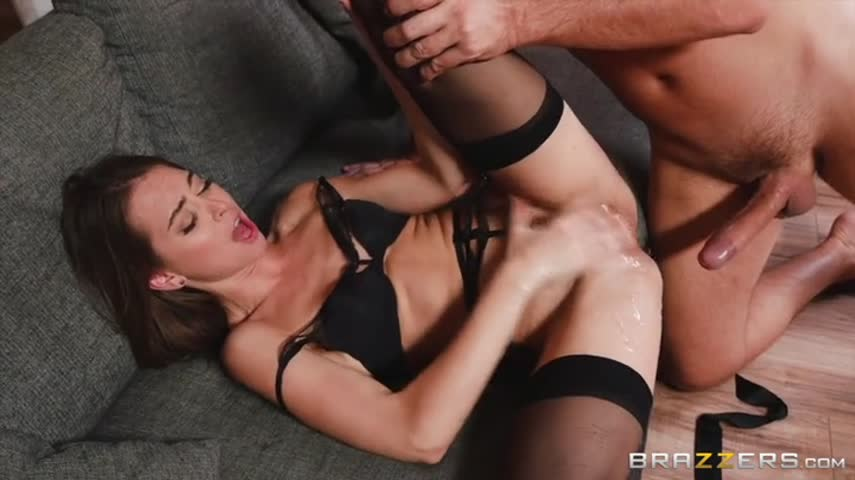 Mature hairy man stroking the leg of a young bitch, and then seduced her and fucked